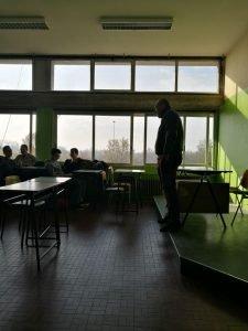 In una classe dell'ITIS G. Cardano di Pavia