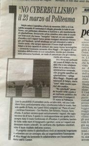 Grande evento a Pavia contro il Bullismo e il Cyberbullismo – 23 marzo 2018
