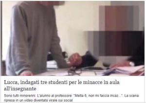 Lucca, sono solo ragazzate?