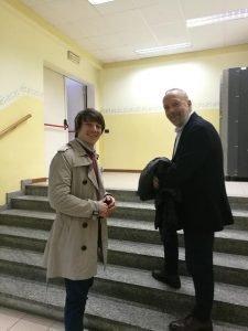 Gino Fanelli e Giulio Ravizza all'Istituto Cossa Alberghiero di Pavia