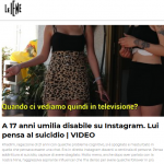 a 17 anni umilia disabile su Instagram