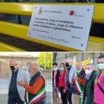 inaugurazione panchina gialla Casalnoceto
