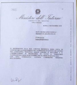 patrocinio del Ministero dell'Interno per Panchine gialle contro il bullismo di Helpis
